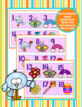 Calendar Time Cards for April Counting Adding Subtracting Patterns & Sequencing