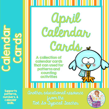 Calendar Time Cards for April Counting Adding Subtracting