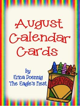 Calendar Cards--August