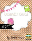 Calendar Cards - August