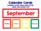 Calendar Cards BUNDLE