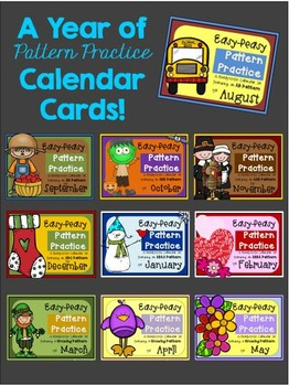Calendar Cards BUNDLE for the Year!