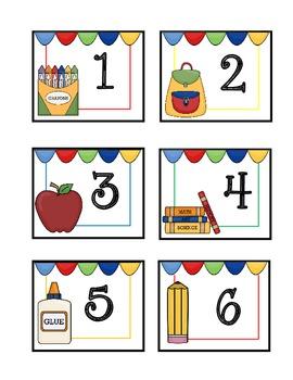 Calendar Cards {Back to School}