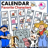 Calendar Cards Back to School themed Book Characters
