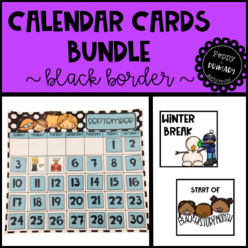 Calendar Cards Bundle - Black Border Edition