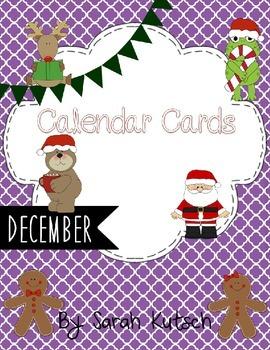 Calendar Cards - December