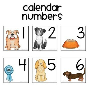 Dog Themed Calendar Set