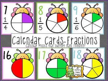 Calendar Cards - Fractions