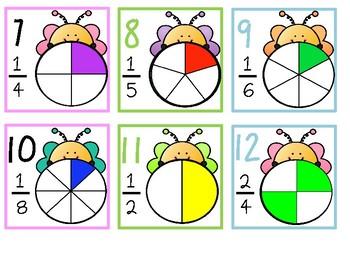 Calendar Date Cards - Fractions