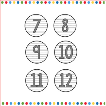 Calendar Cards Gray Numbers and Months