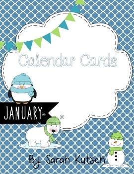 Calendar Cards - January