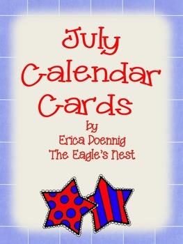 Calendar Cards--July