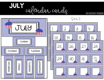 Calendar Cards - July