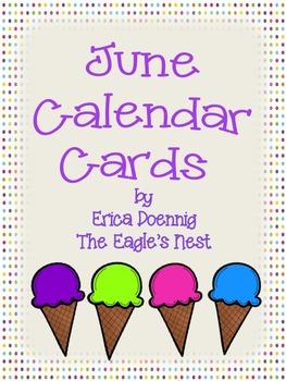 Calendar Cards--June