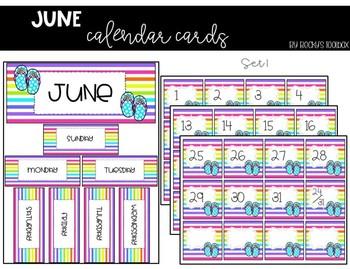 Calendar Cards - June