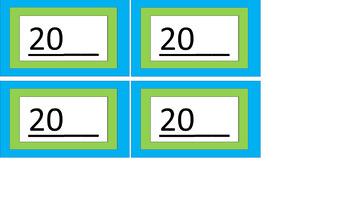 Calendar Pieces/Bulletin Board Set - Lime & Teal
