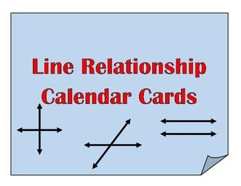 Calendar Cards: Line Relationships