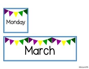 Calendar Cards - March