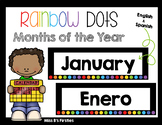 Calendar Cards- Months of the Year (Rainbow Dots)