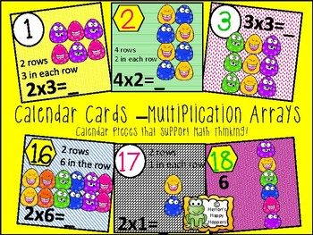 Calendar Date Cards - Multiplication Arrays
