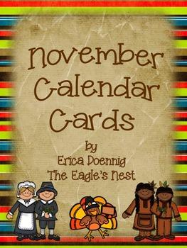 Calendar Cards--November