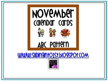 Calendar Cards-November