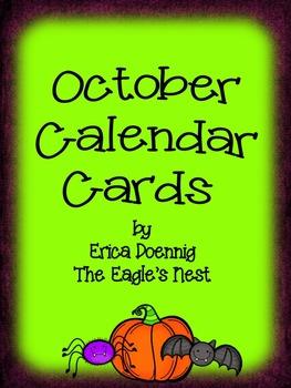 Calendar Cards--October
