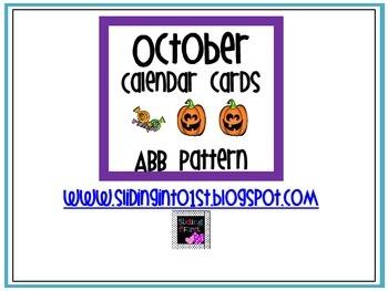 Calendar Cards-October