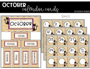 Calendar Cards - October