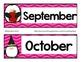 Calendar Cards-Penguin Themed Pink Cheveron
