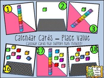 Calendar Date Cards - Place Value