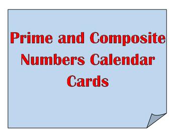 Calendar Cards: Prime and Composite