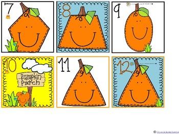 Calendar Cards - Pumpkin Shapes