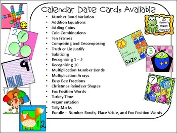 Calendar Cards Recognizing 1 - 5