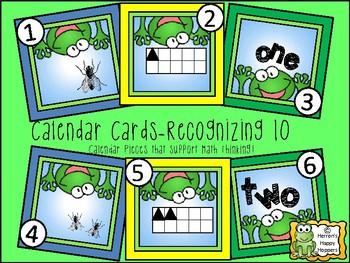 Calendar Cards Recognizing 10
