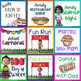Calendar Cards: School Basics 2