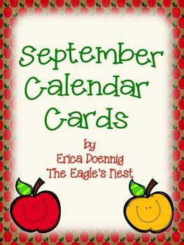 Calendar Cards--September