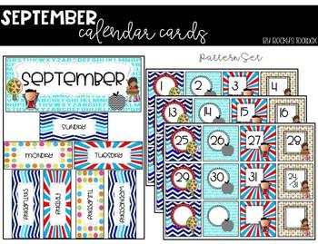 Calendar Cards - September