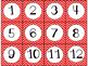 Calendar Cards Set - 4 Chevron Designs Turquoise, Red, Dark Red, Pink