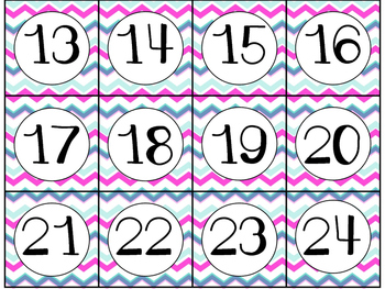 Calendar Cards Set - 4 Designs (Light Pink and Turquoise)