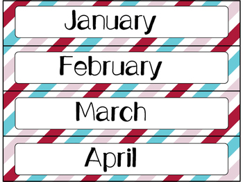 Calendar Cards Set - 4 Designs (Pink, Red, and Turquoise)