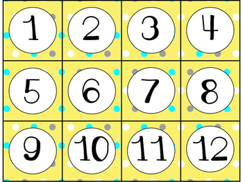 Calendar Cards Set - 4  Designs (Yellow, Turquoise, Gray)