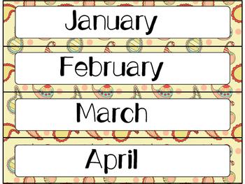 Calendar Cards Set - 4  Paisley Designs