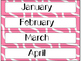 Calendar Cards Set - 4 Ripple Designs (Purple, Pink, Red, and Yellow)