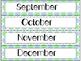 Calendar Cards Set - 4 Spring Color Designs (Gray, Blue, Green)