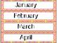 Calendar Cards Set - 4 Spring Color Designs (Pink, Orange, Yellow)