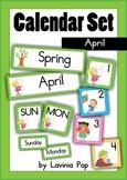 Calendar Cards Set - April