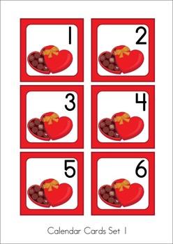 Calendar Cards Set {Australian} - February