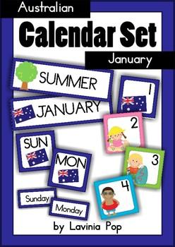 Calendar Cards Set {Australian} - January