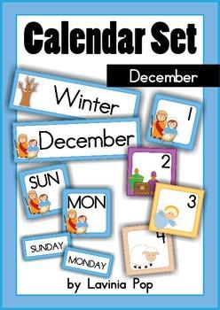 Calendar Cards Set - December NATIVITY {FREE}